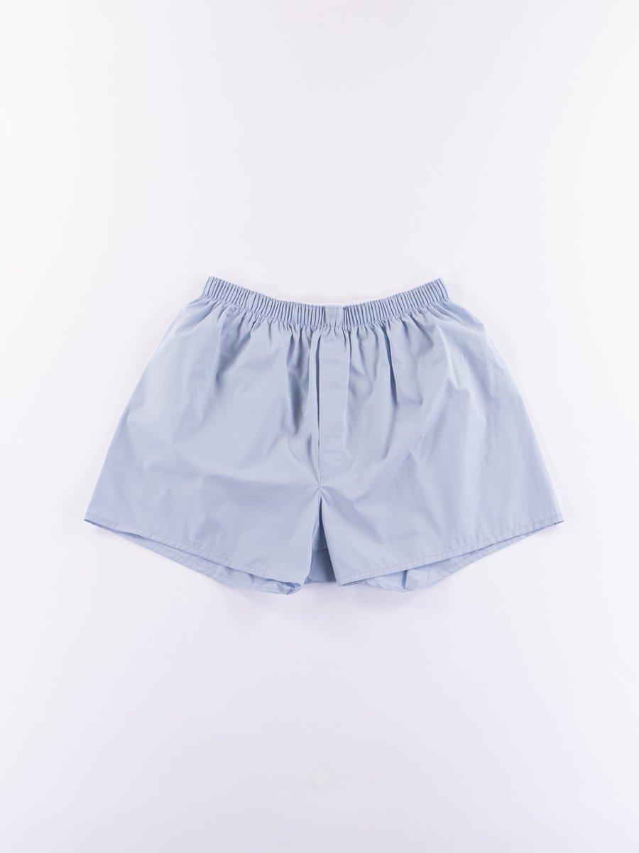 Plain Blue Classic Boxer Short