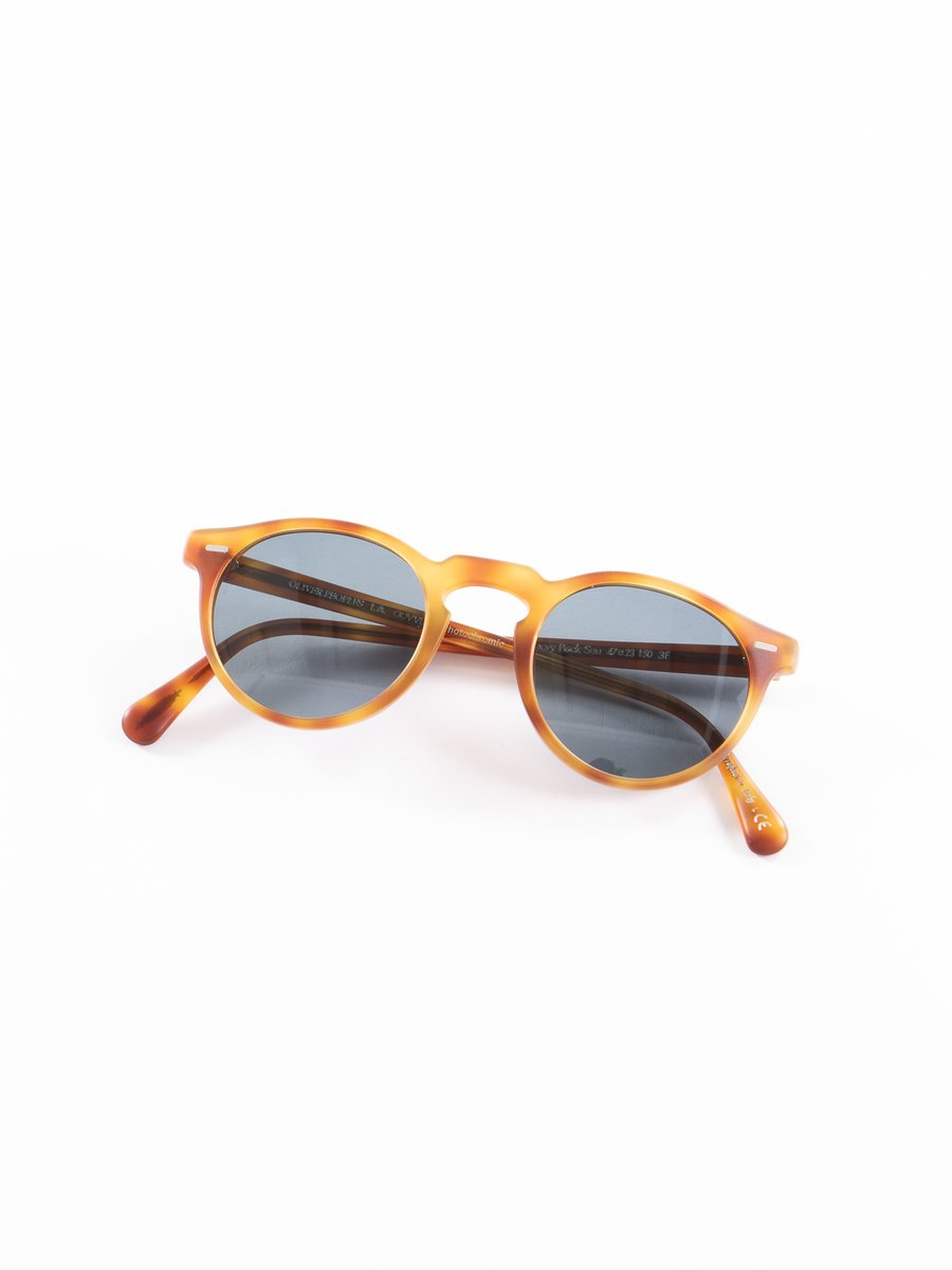 Semi–Matte LBR/Blue Photochromic Gregory Peck Sunglasses