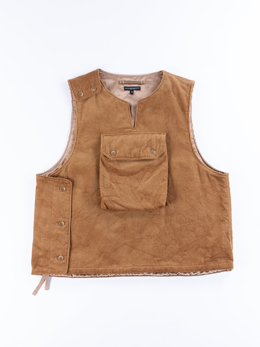 Chestnut Cotton 8W Corduroy Cover Vest