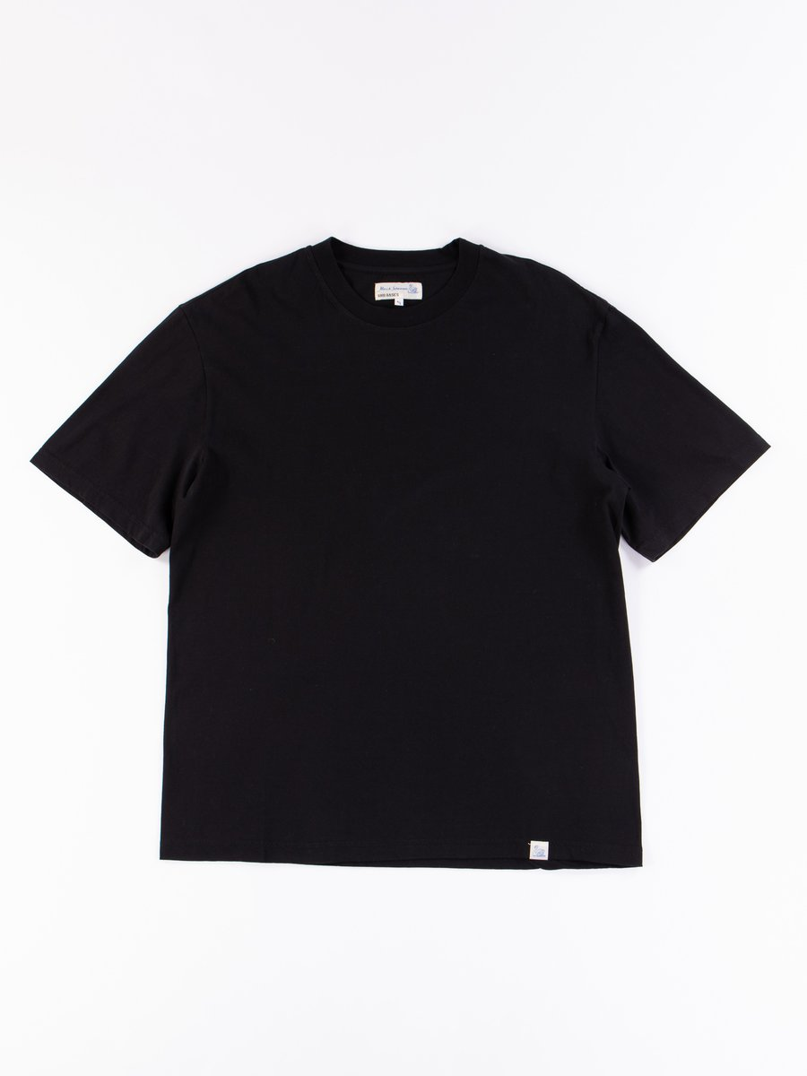 Deep Black Good Basics CTOS01 Oversized Crew Neck Tee