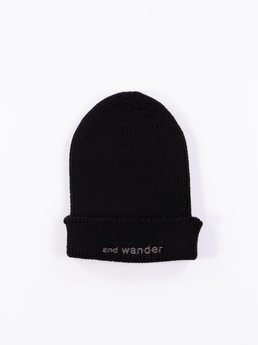 Black Merino Wool Cap