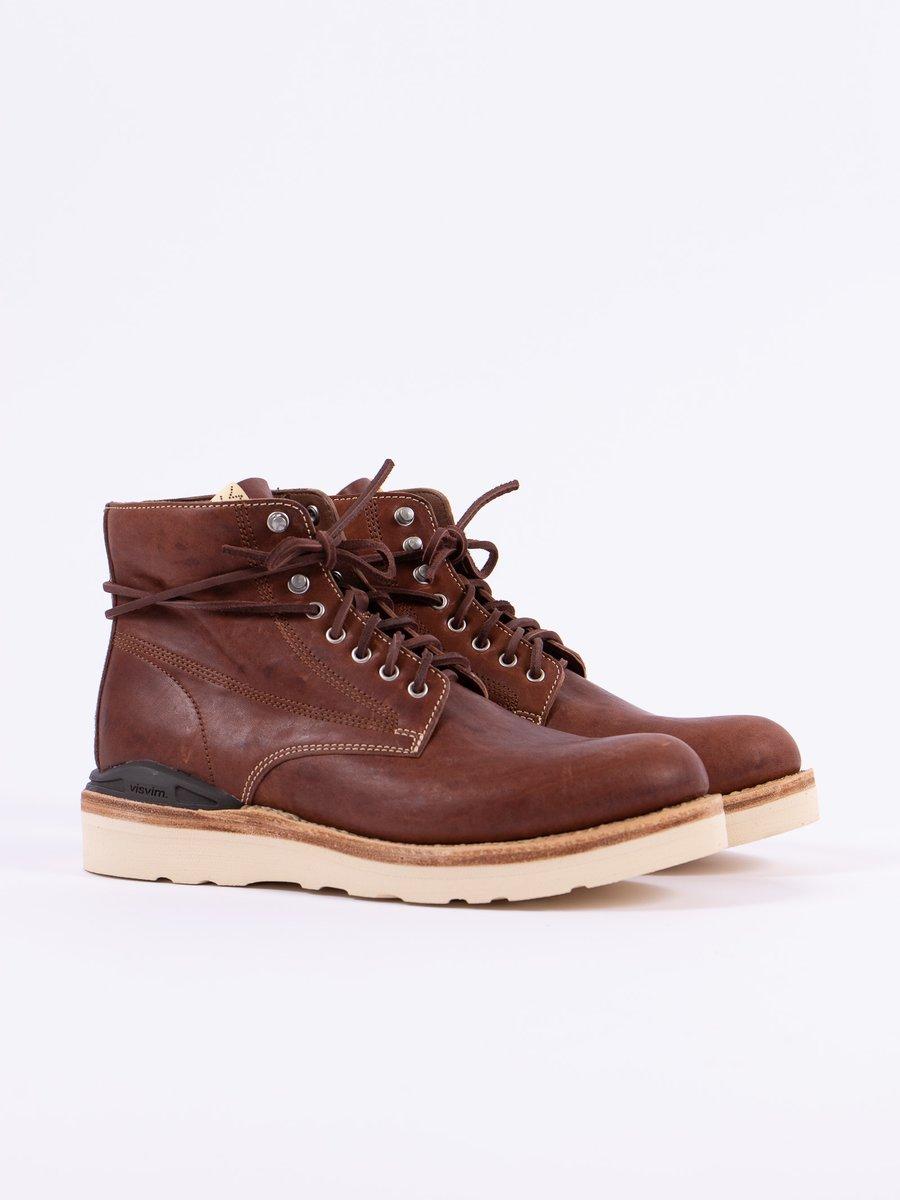 Dark Brown Horsehide Virgil Boots–Folk