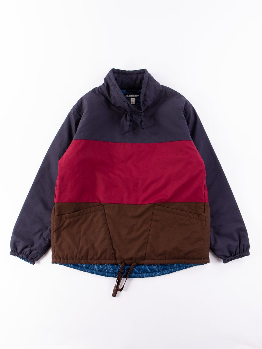 Navy/Maroon/Brown Insulated Mock Neck Pullover