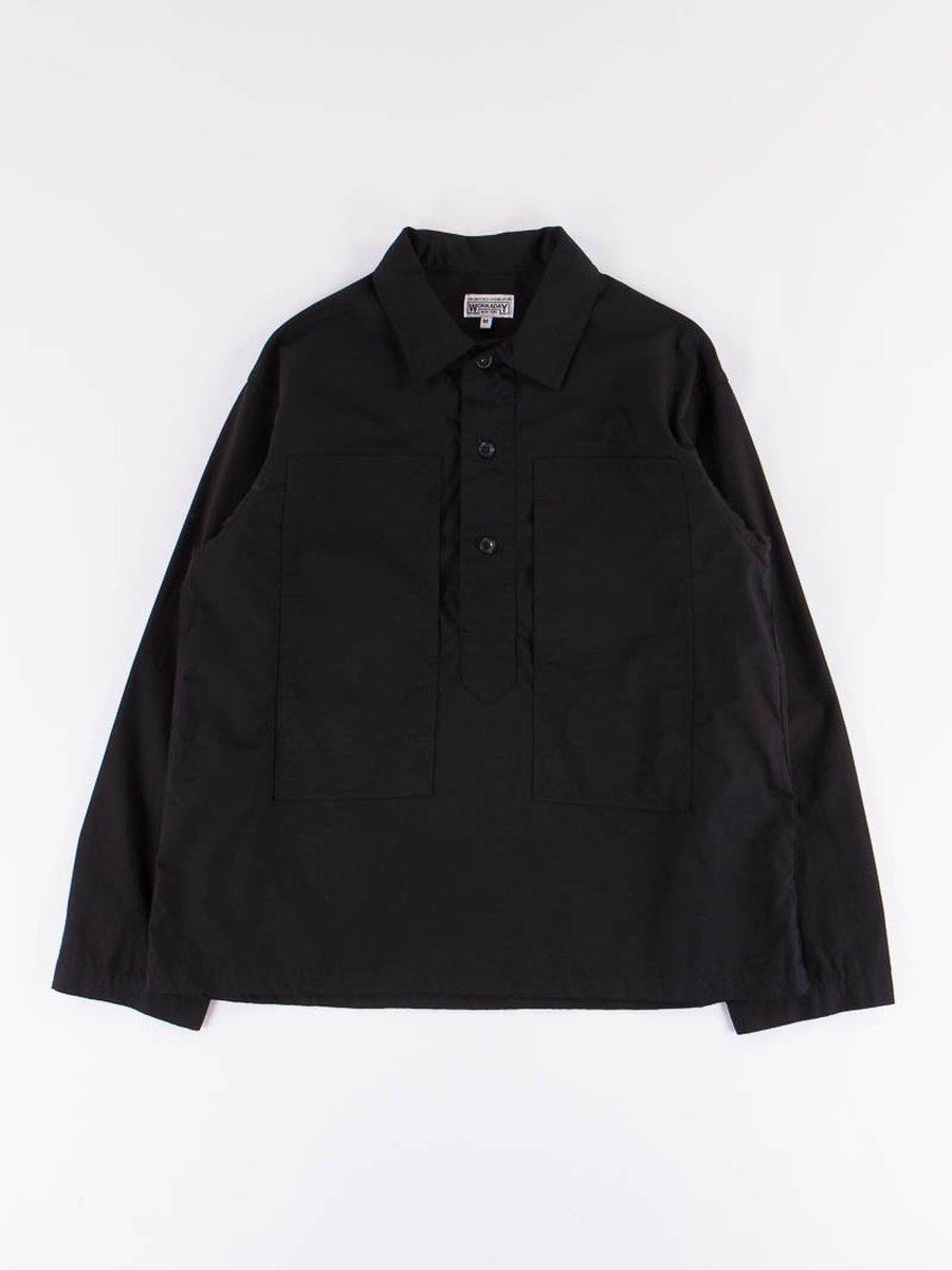 Black Cotton Ripstop Army Shirt