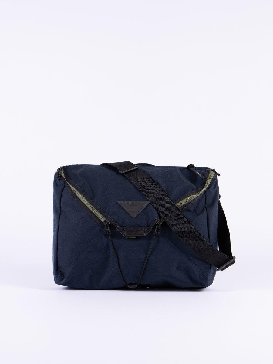 Navy Delta Shoulder Bag