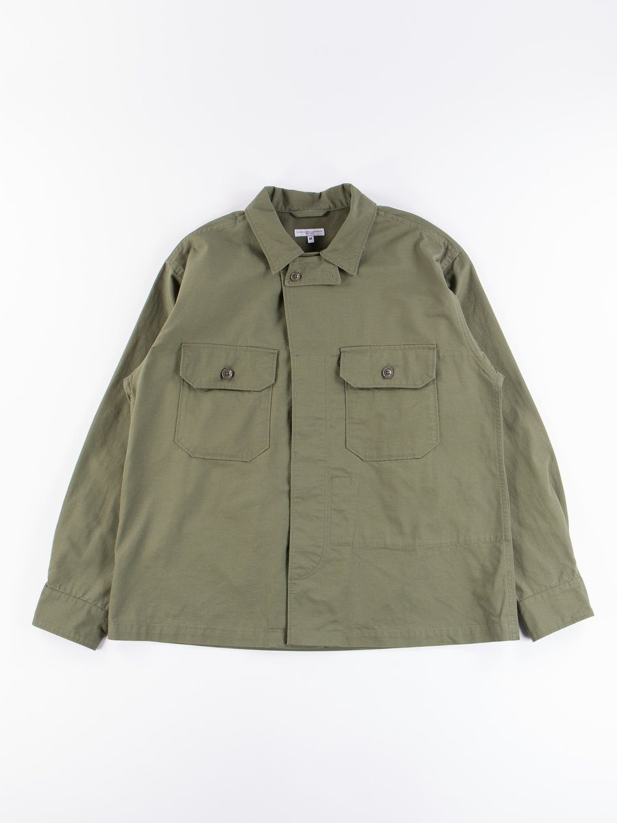 Olive Cotton Ripstop MC Shirt Jacket