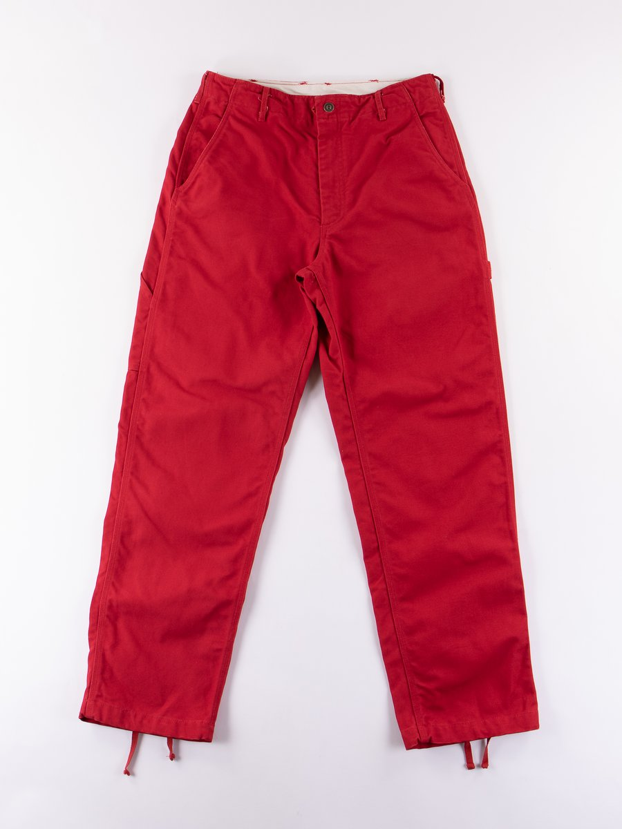 Red 12oz Duck Canvas Logger Pant