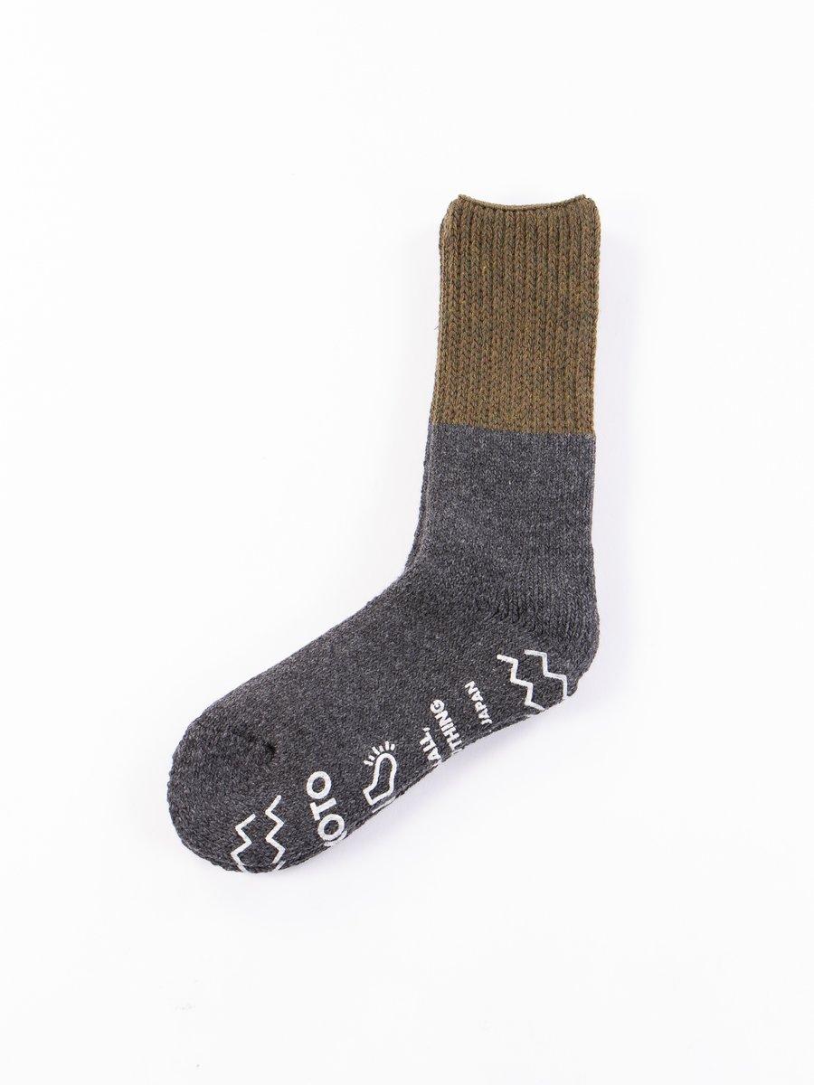 Olive/Charcoal Teasel Socks