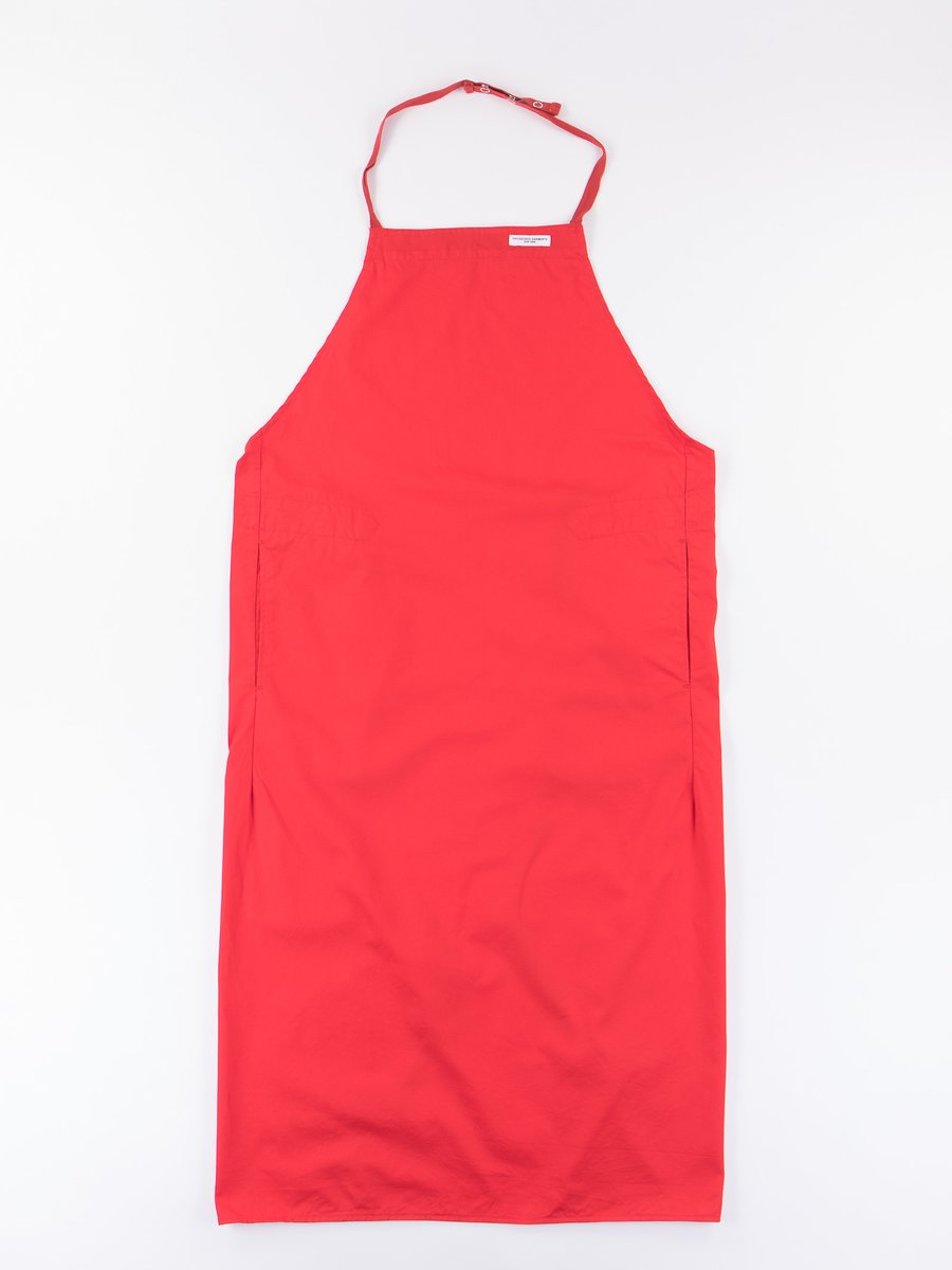 Red 5oz Twill New Long Apron