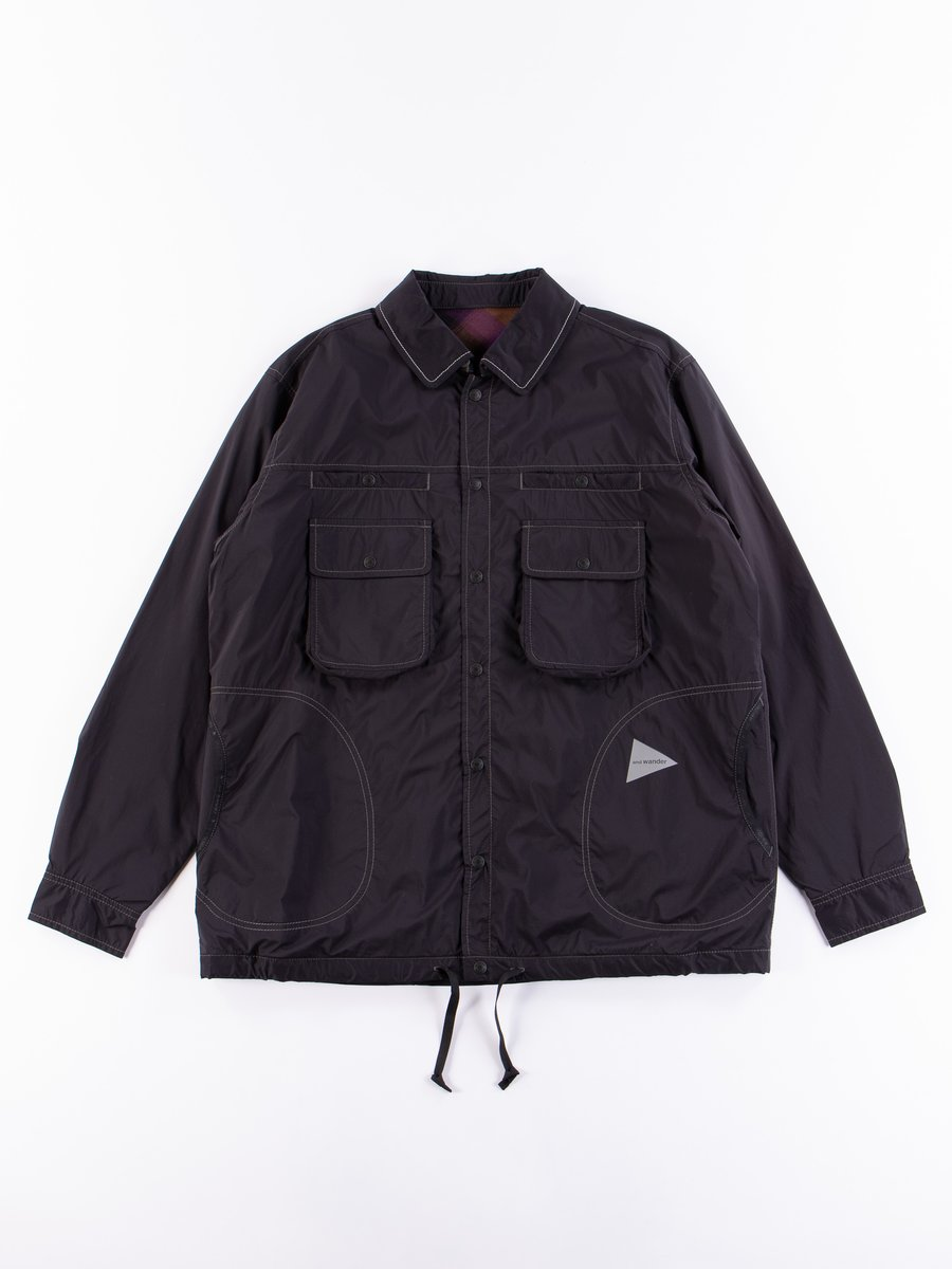Navy Reversible Nylon Jacket
