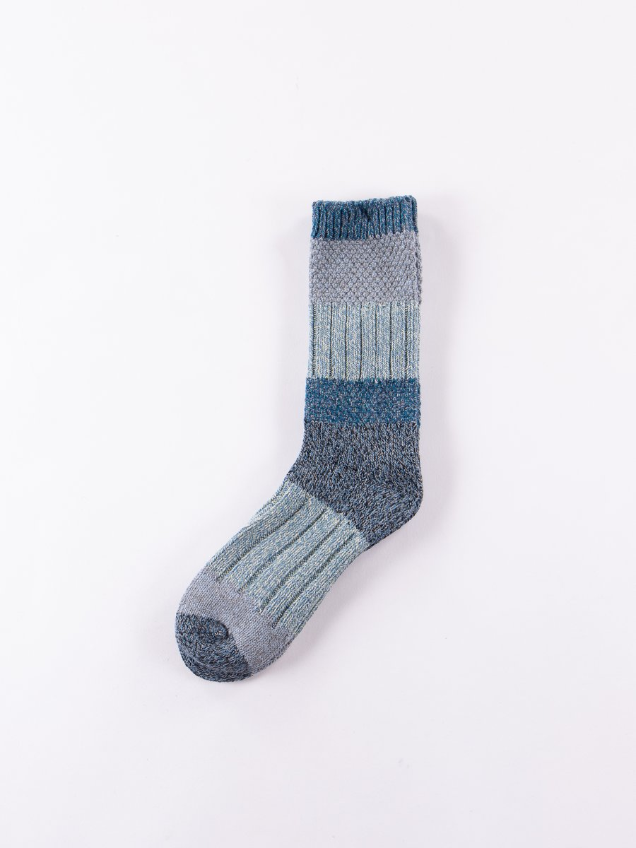 Light Blue/Blue 56 Yarns Kogin Grandrelle Stretch Socks