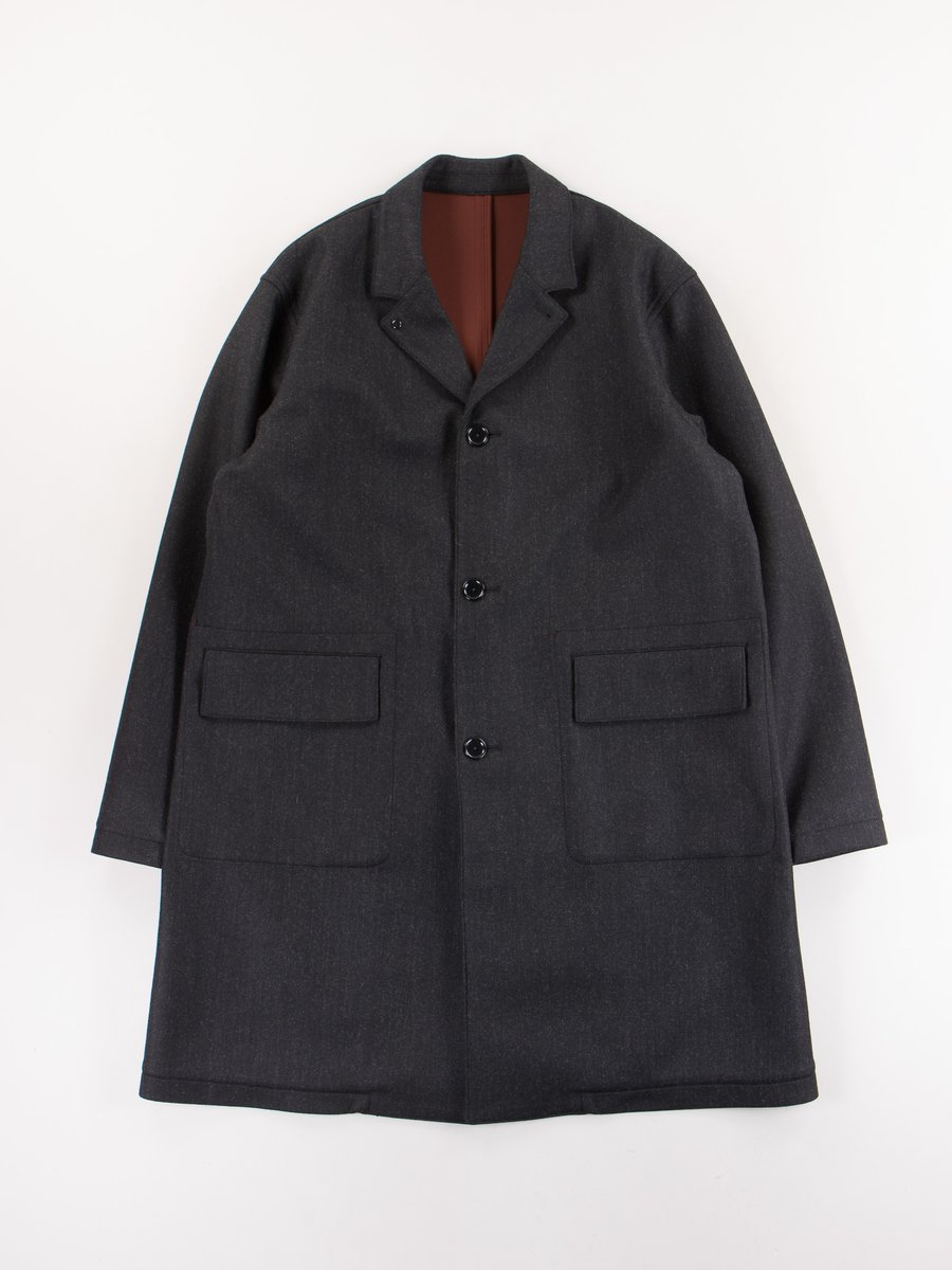 Charcoal Bonded Check Coat