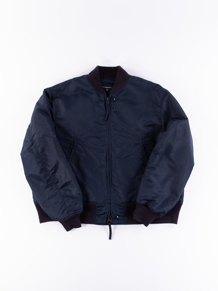 Navy Flight Satin Nylon SVR Jacket