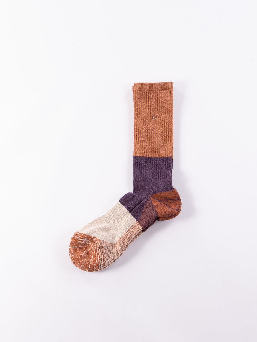 Brick Dralon Crew Socks