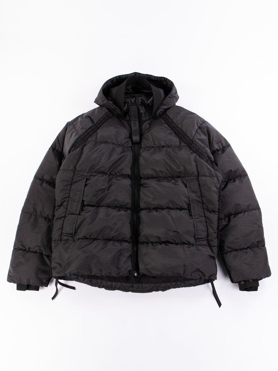 Black Goose Down Guard Jacket