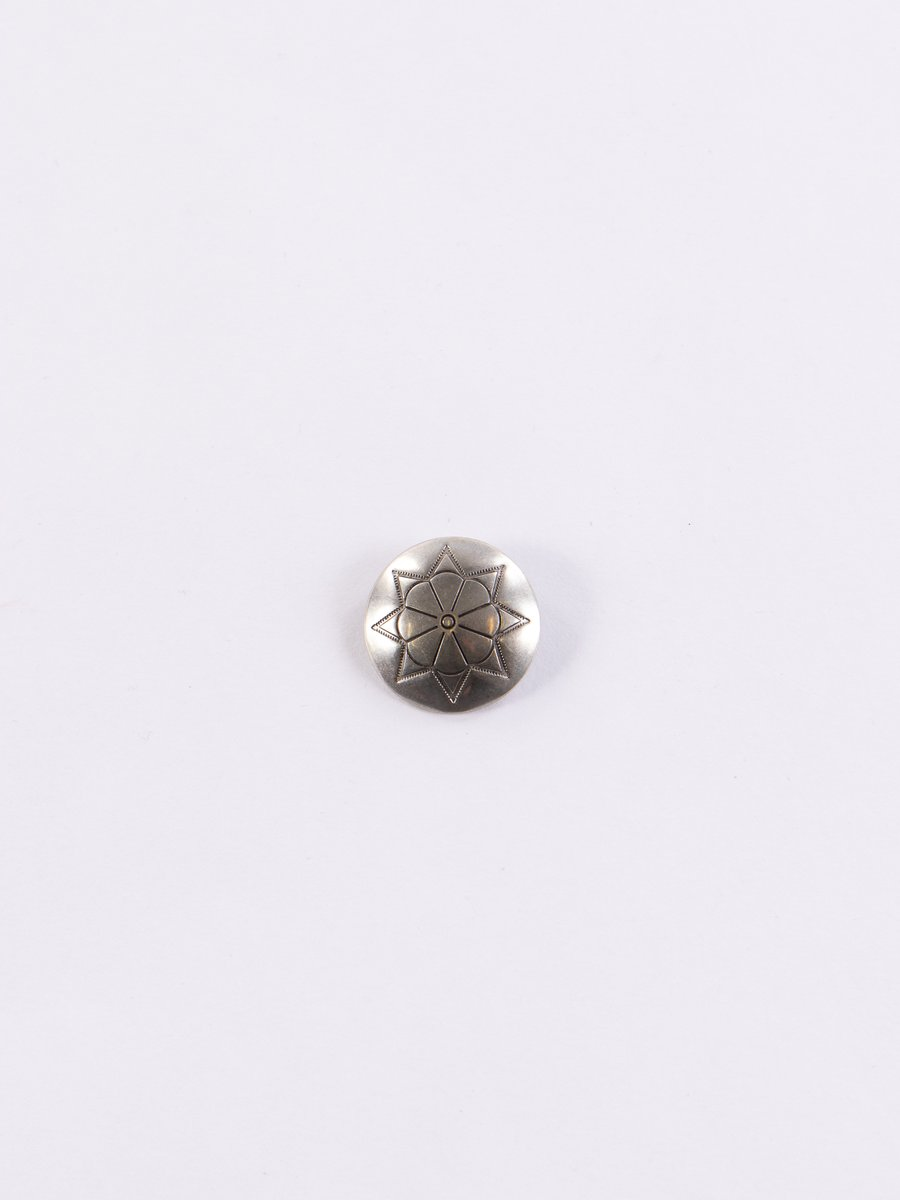 Nickel Silver 8 Petal Flower Small Concho Pin