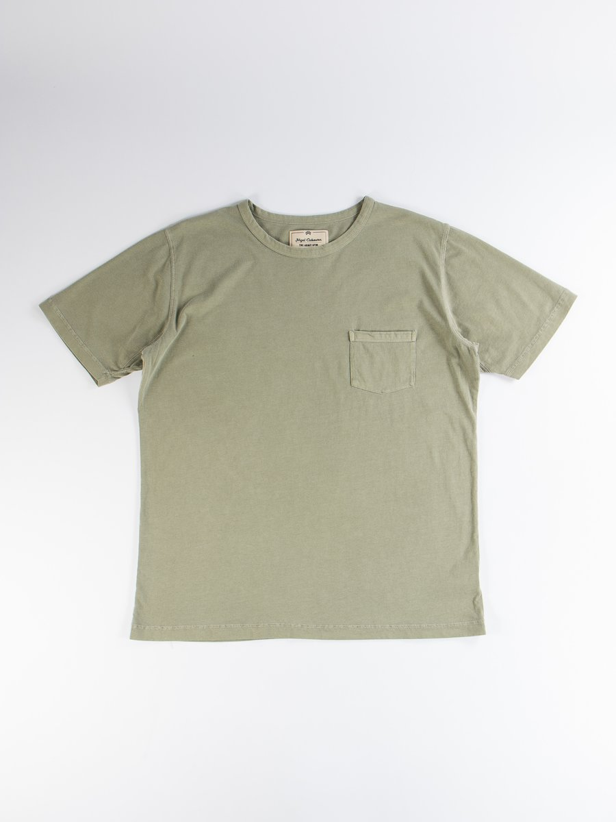 Washed Army Military Pocket Tee