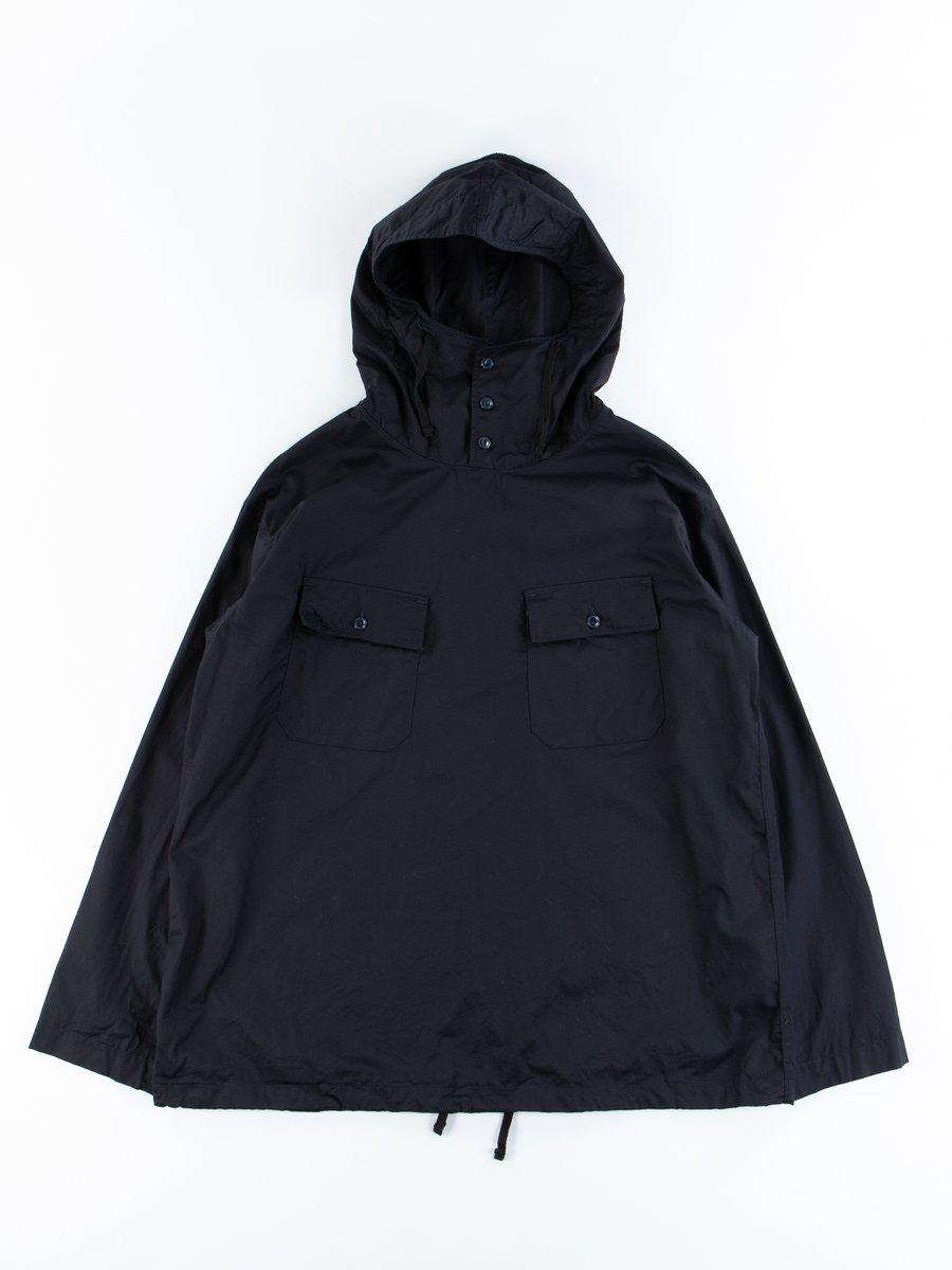 Dark Navy Cotton Fineline Twill Cagoule Shirt