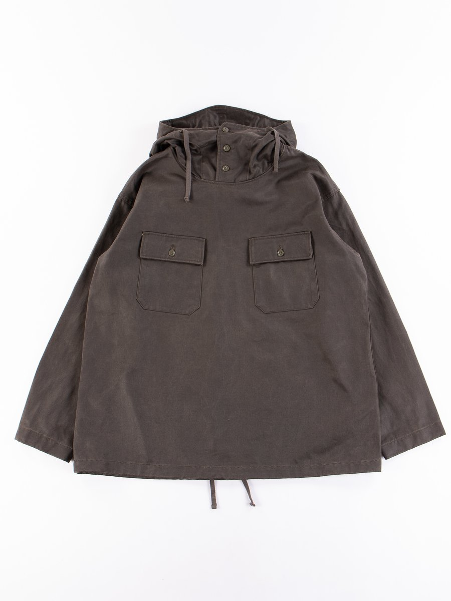 Dark Olive Coated Twill Cagoule Shirt