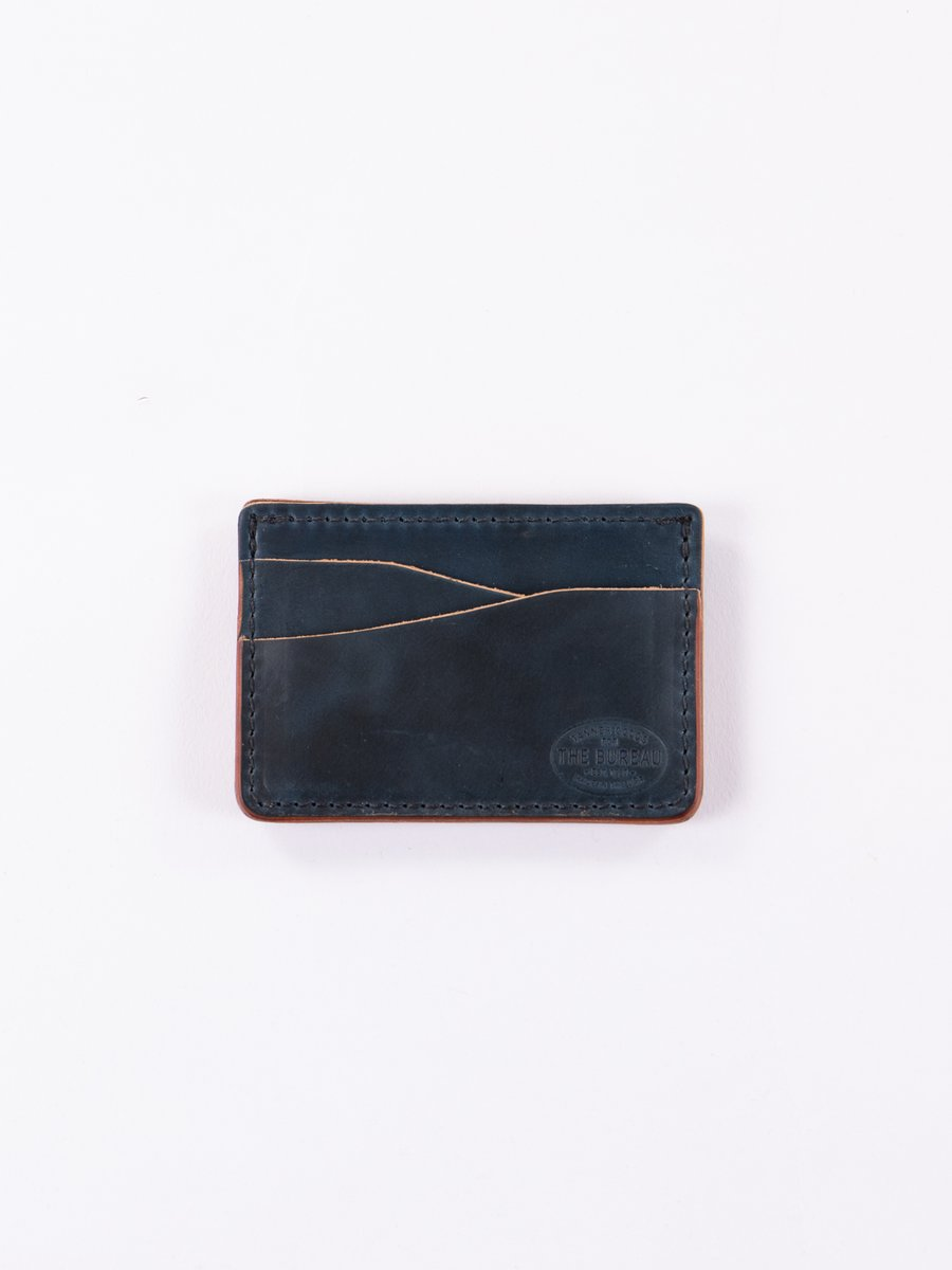 Nautical Blue Cordovan Journeyman Wallet