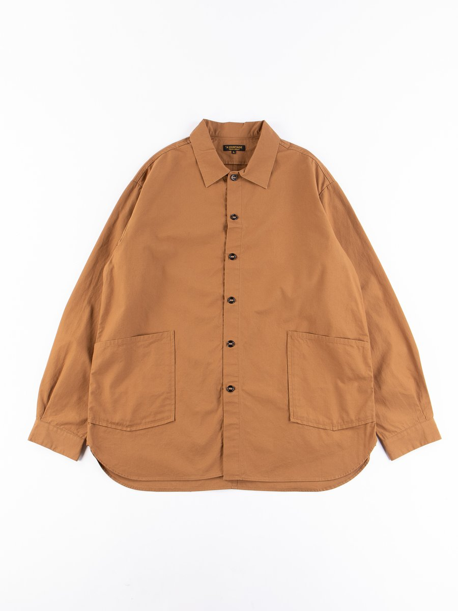 Tan Gardener Oxford Shirt Jacket