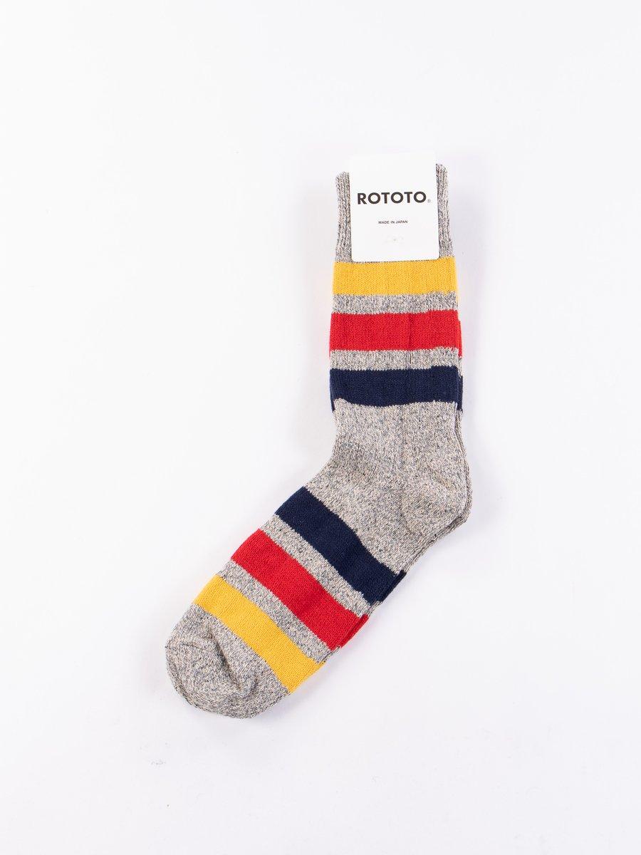 Mid Grey Park Stripe Socks