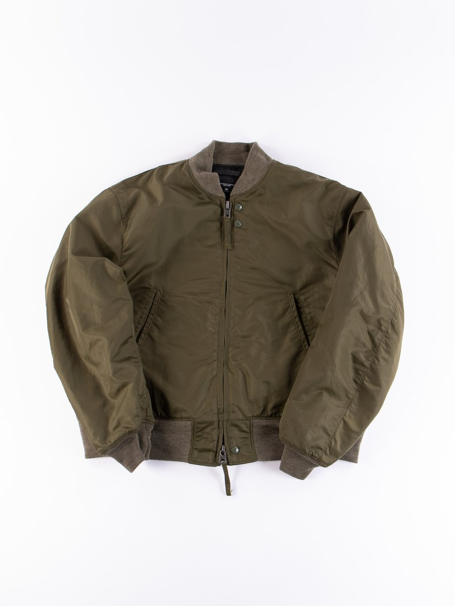 Olive Flight Satin Nylon SVR Jacket