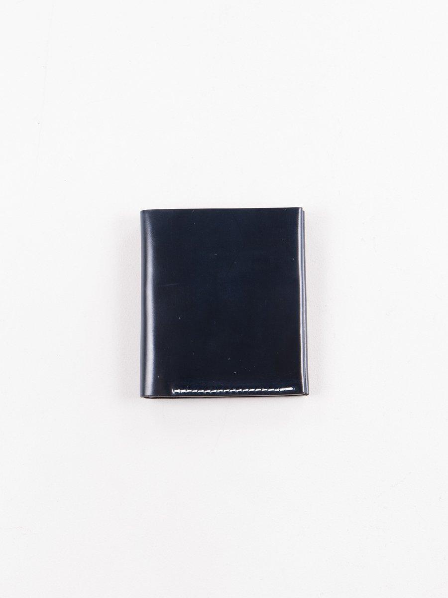 Navy Horween Cordovan 2–2 Wallet
