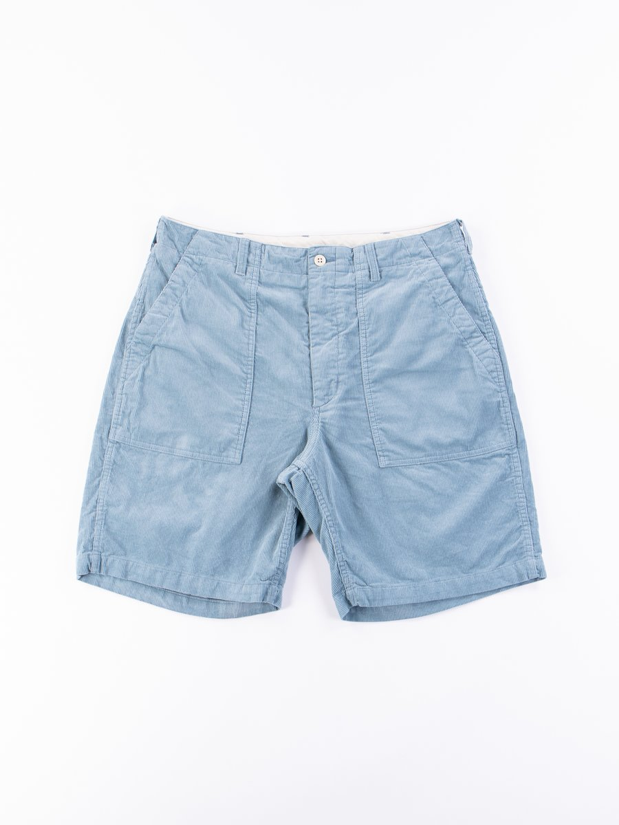 Light Blue 14W Corduroy Fatigue Short