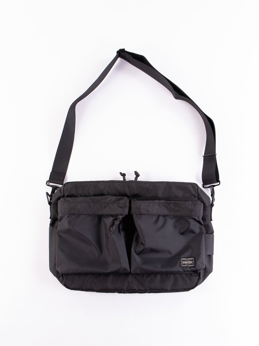 Black Medium Force Shoulder Bag