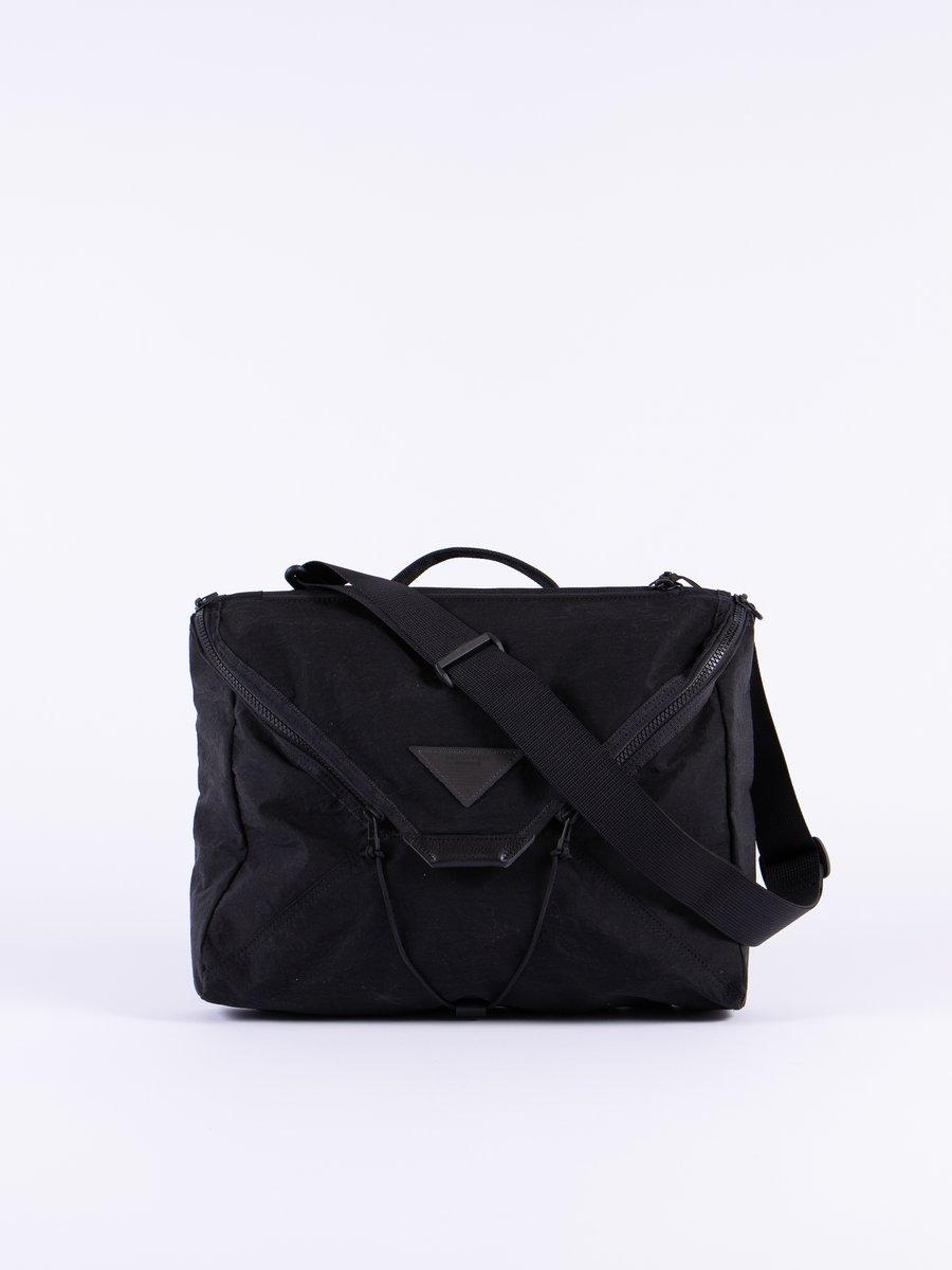Black Delta Shoulder Bag