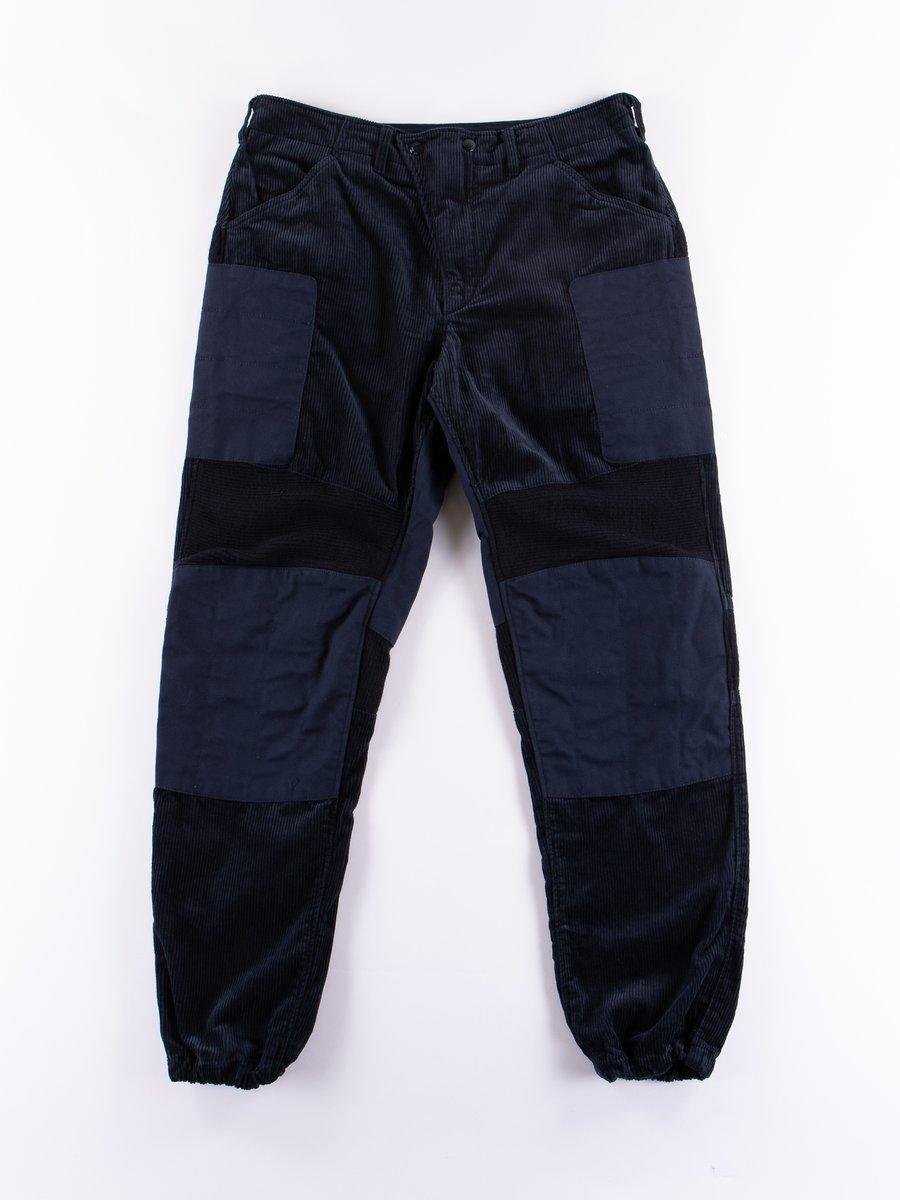 Navy 8W Corduroy Moto Pant