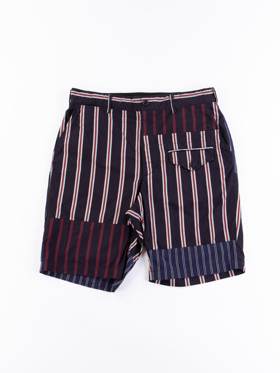 Navy/Red/White Regimental Stripe Ghurka Short