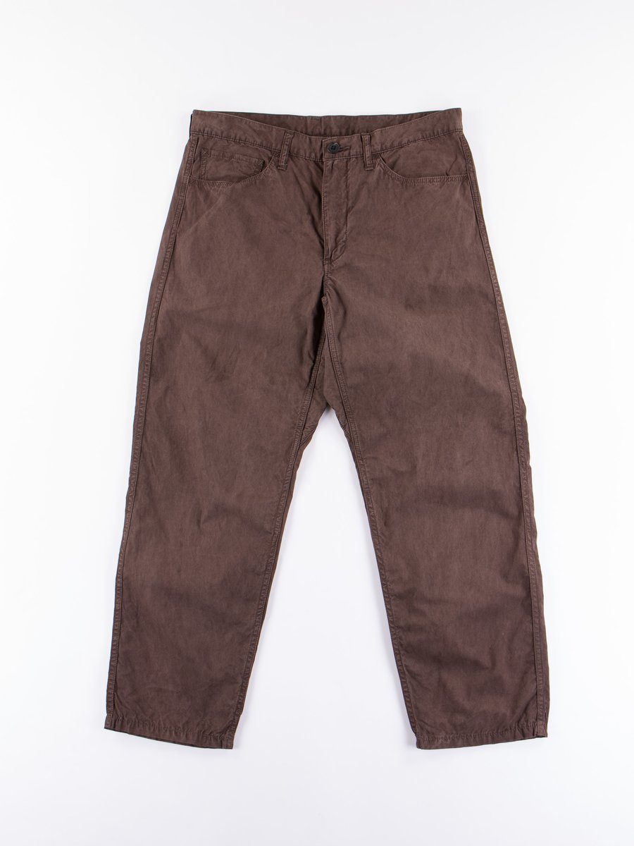 Brown Dorozome Slim Pant