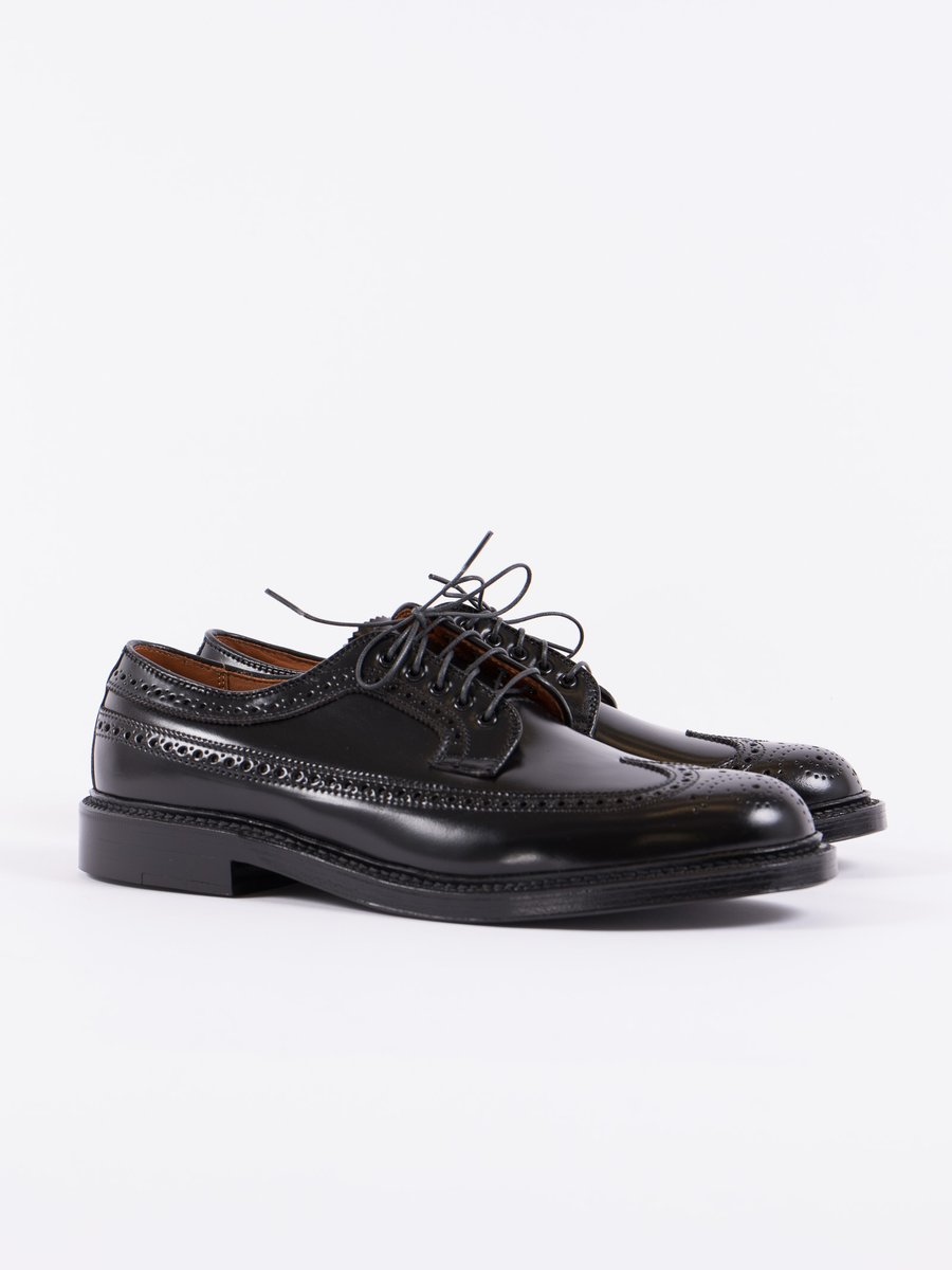 Black Cordovan Long Wing Blucher