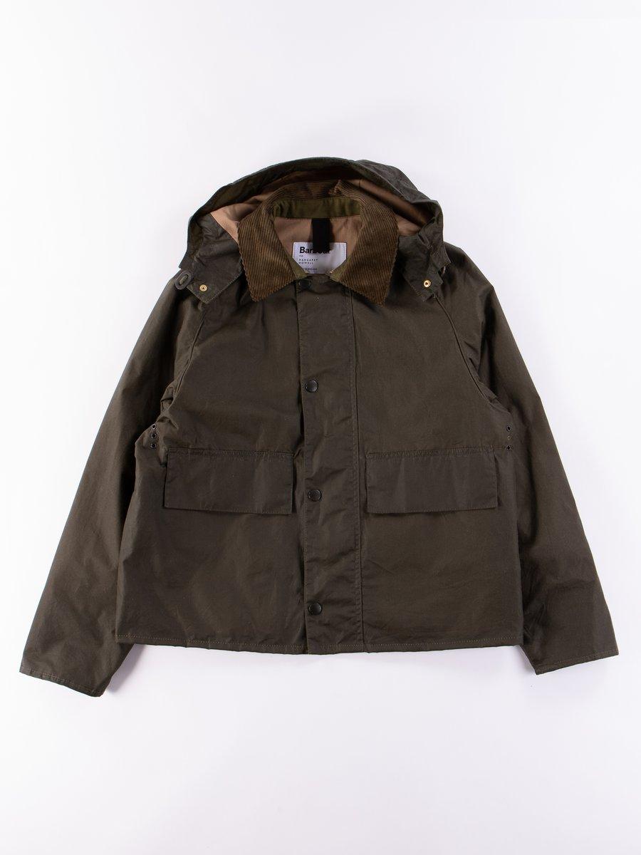 Olive Spey Wax Jacket