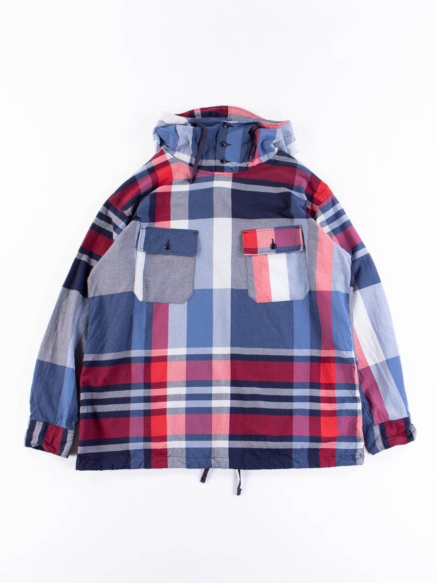 Navy/Red Big Madras Plaid Cagoule Shirt
