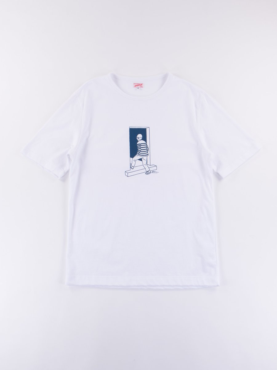 White Gate Graphique Jersey T–Shirt