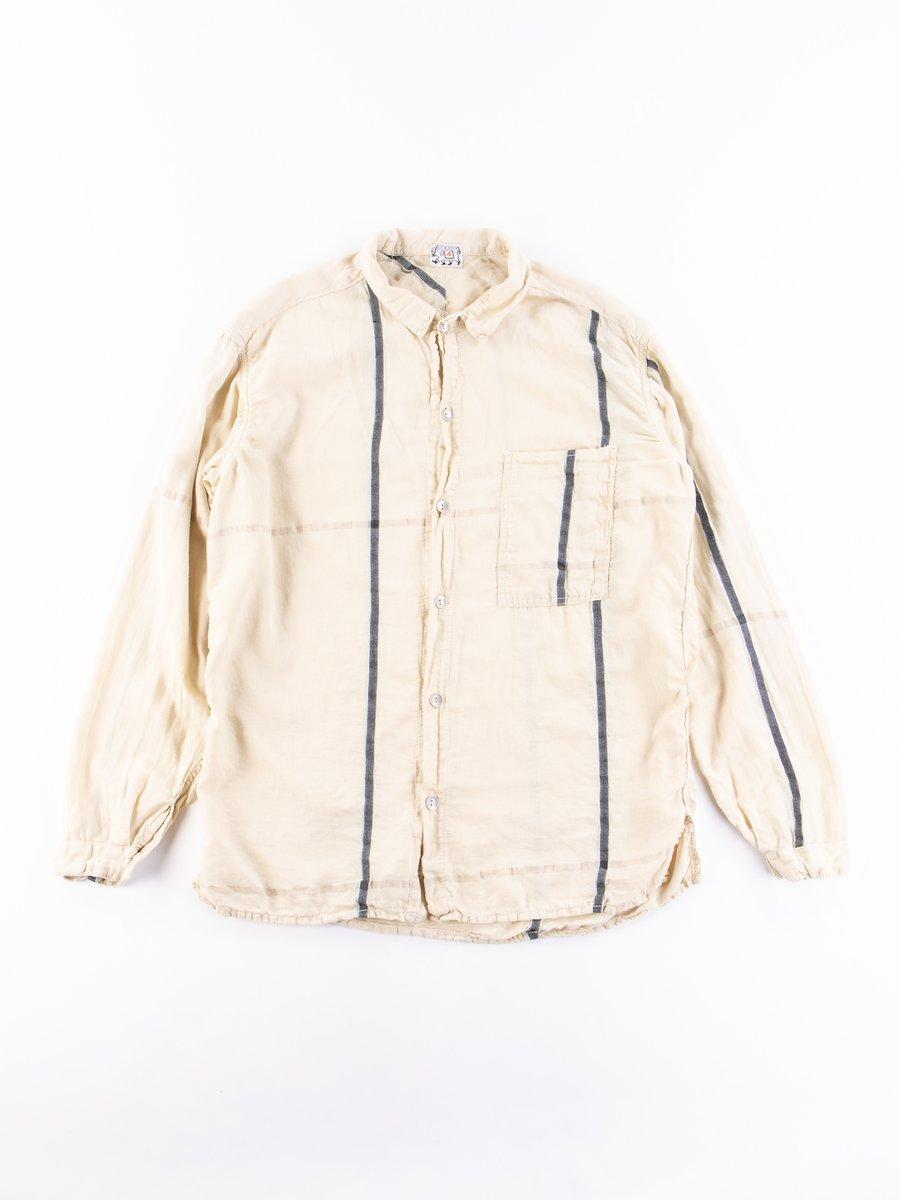 Henna Dyed Handkerchief Check LS Bench Shirt