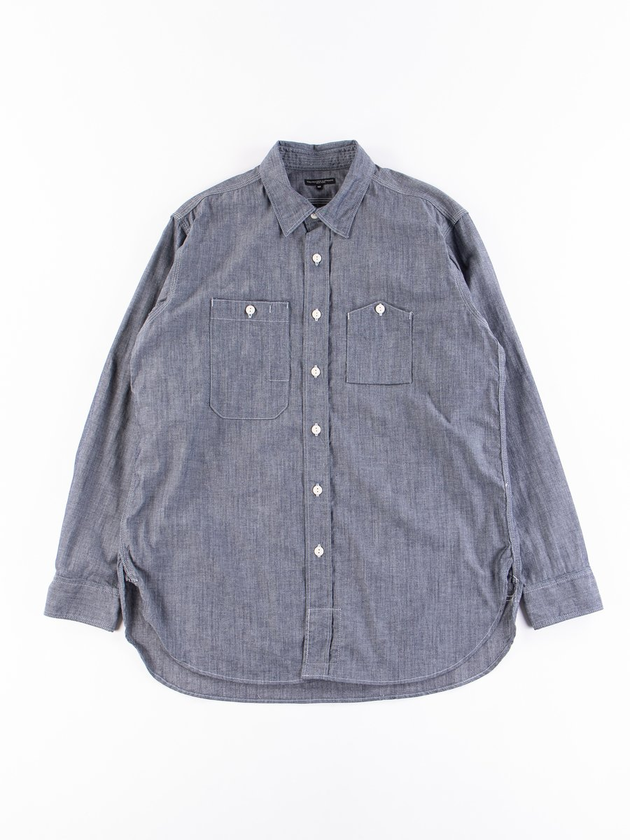 Indigo Cotton Cone Chambray Work Shirt