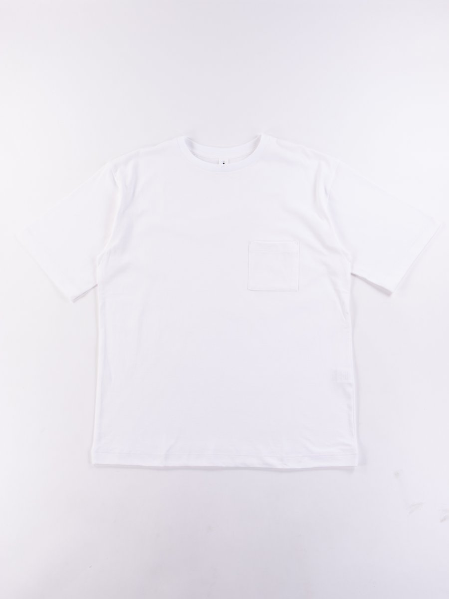 White Crew Neck Pocket Tee