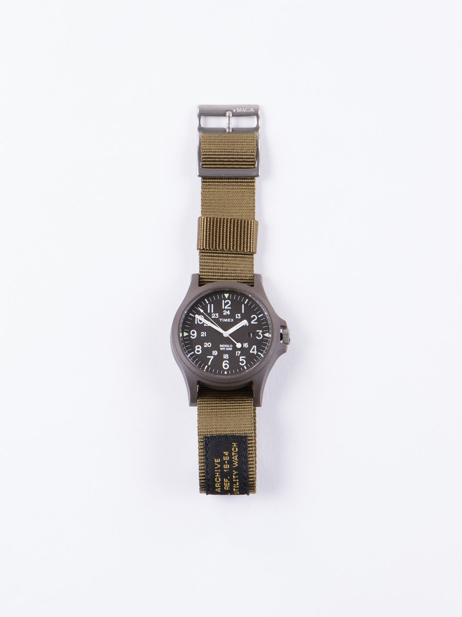 Green/Black w/ Army Green Strap Acadia Watch