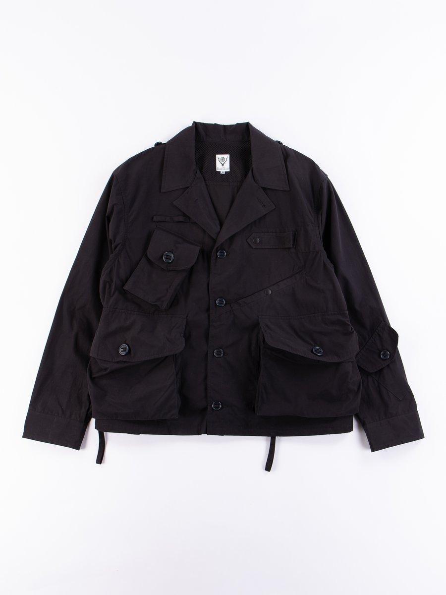 Navy Wax Coating Tenkara Shirt Jacket