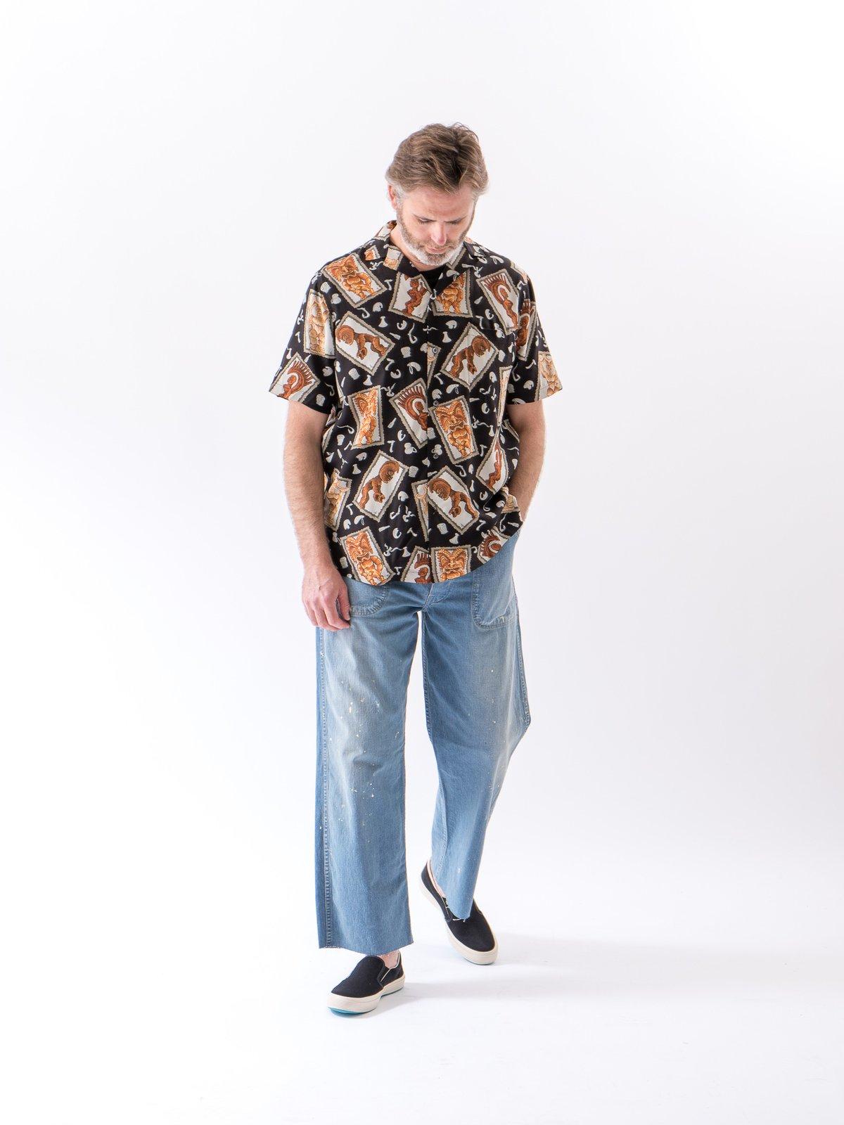 Black Hawaiian Tikis Rayon Camp Shirt - Image 2