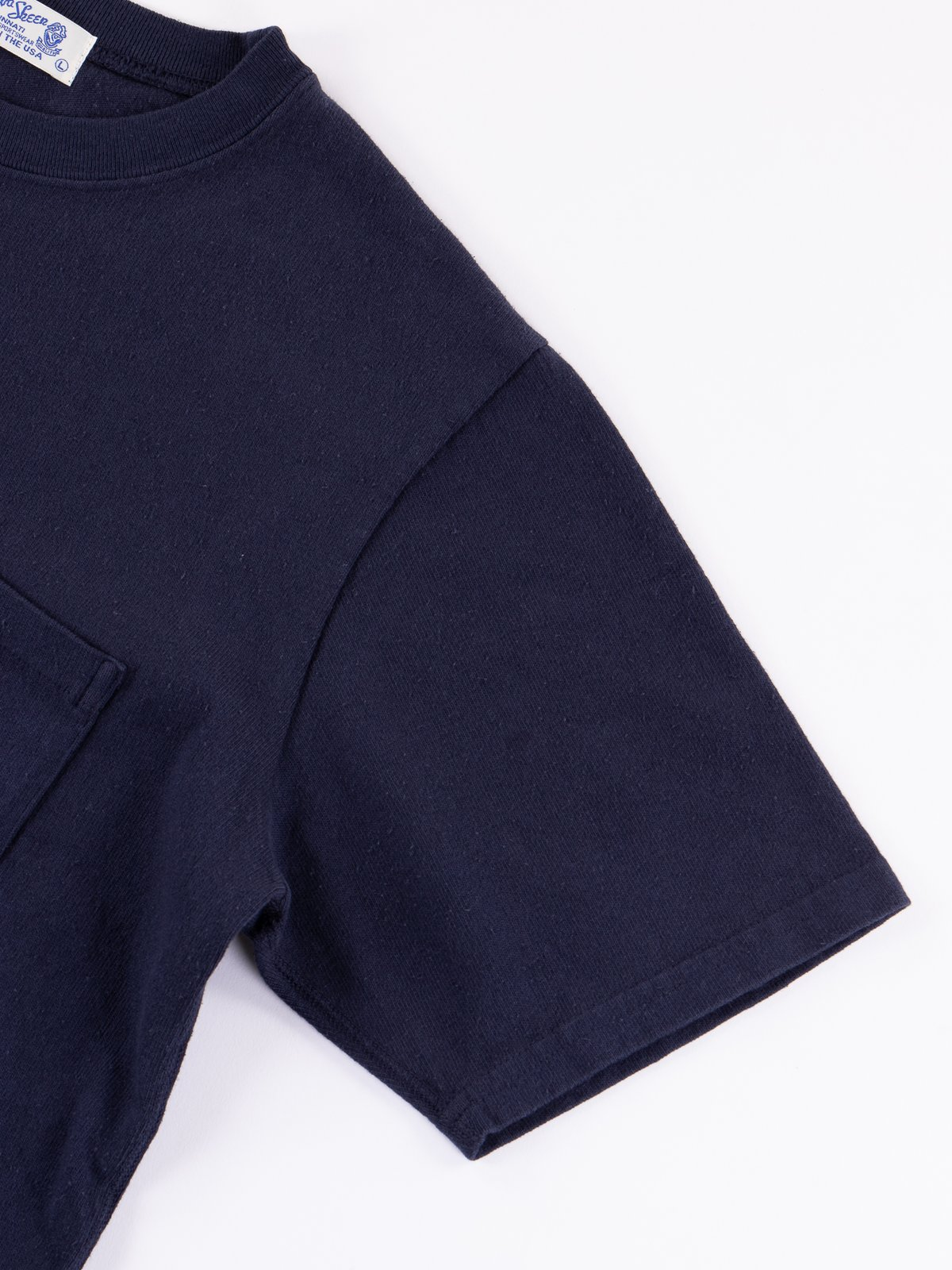 Navy Heavy Oz Pocket Tee - Image 4