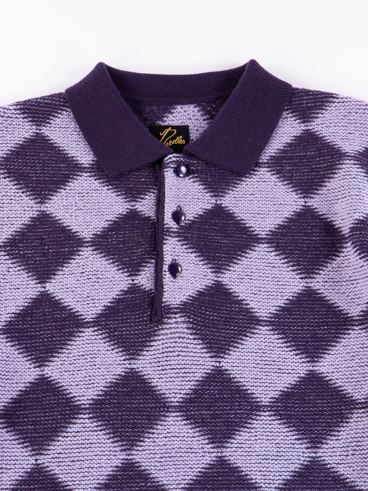 Purple Checkered Polo Sweater - Image 3