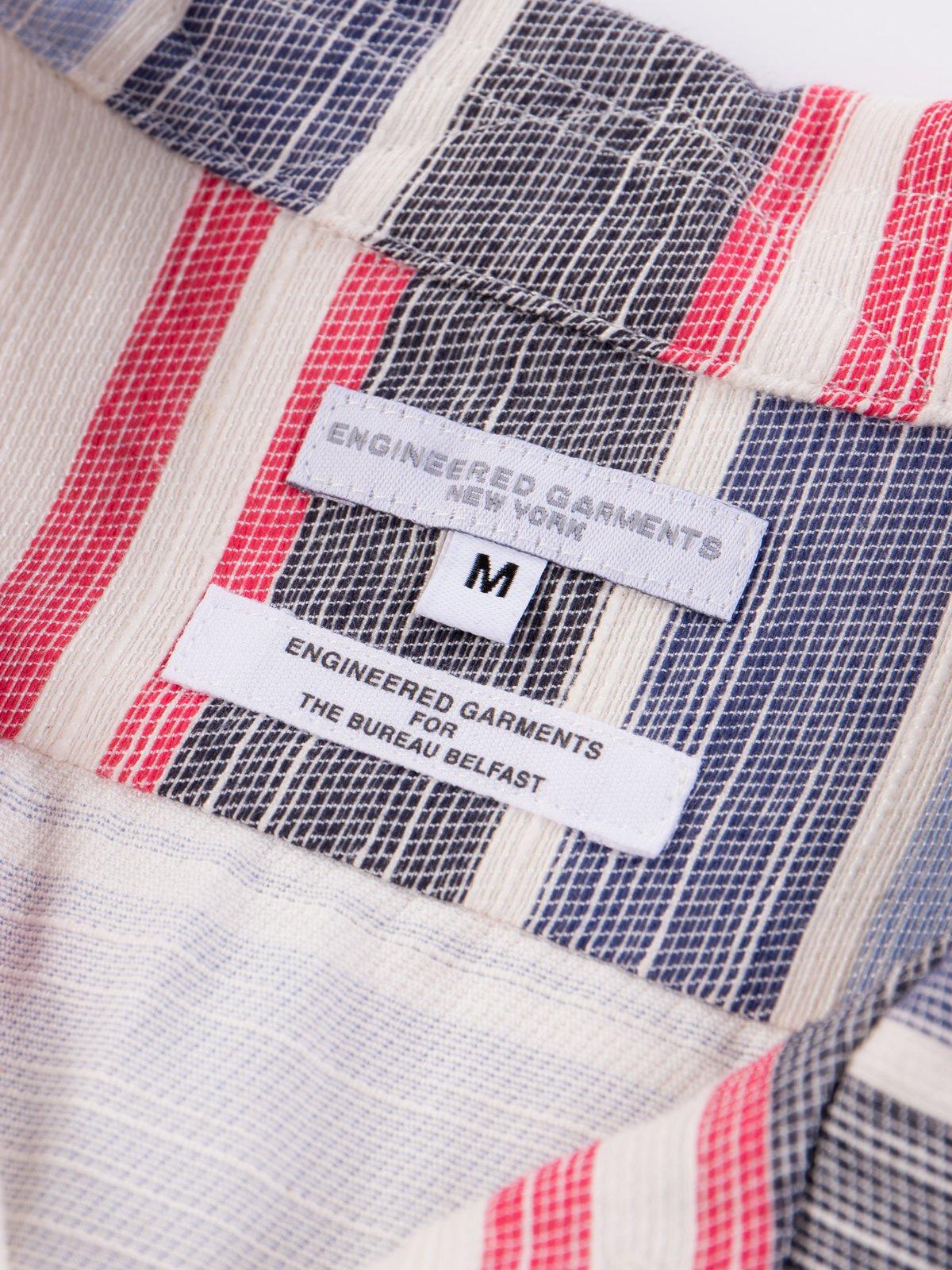 Natural/Red/Blue Horizontal Slab Camp Shirt - Image 5