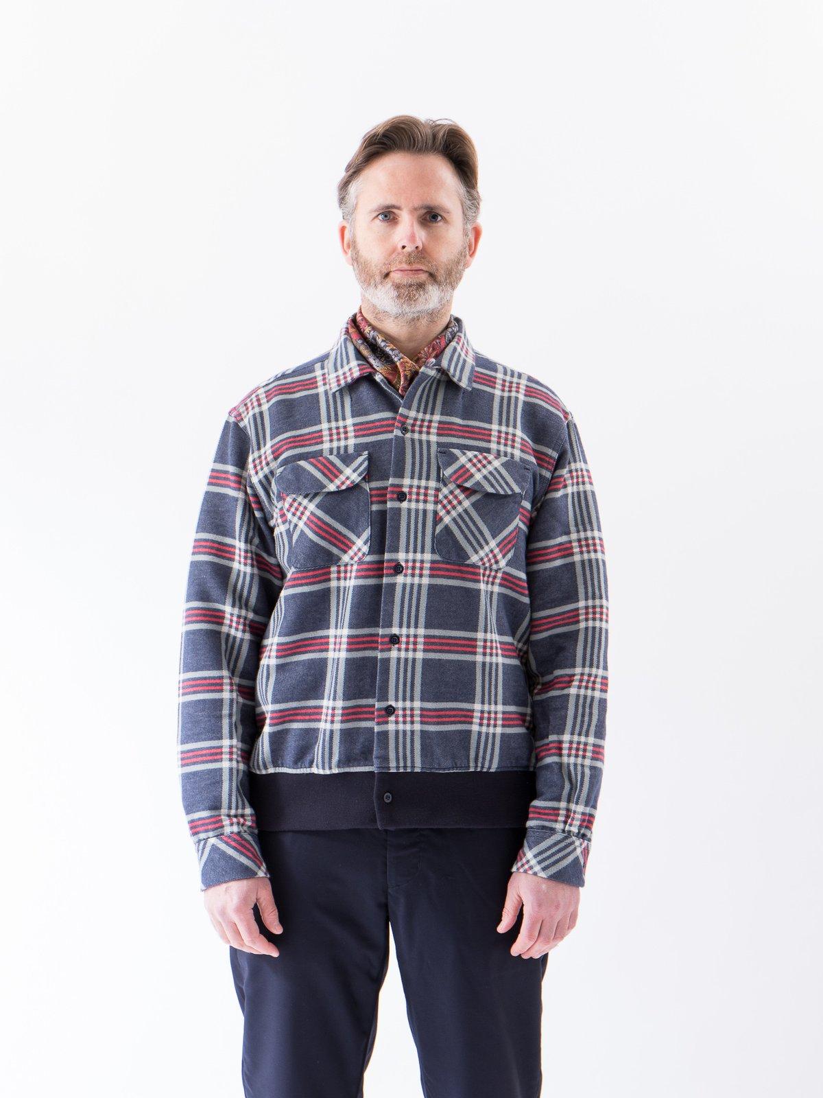 Navy/Teal/Red Big Plaid Classic Shirt - Image 2