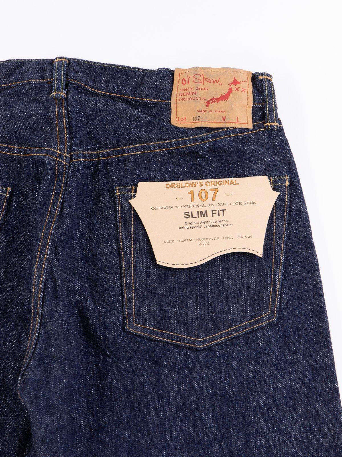 Indigo One Wash 107 Slim Fit Jean - Image 8