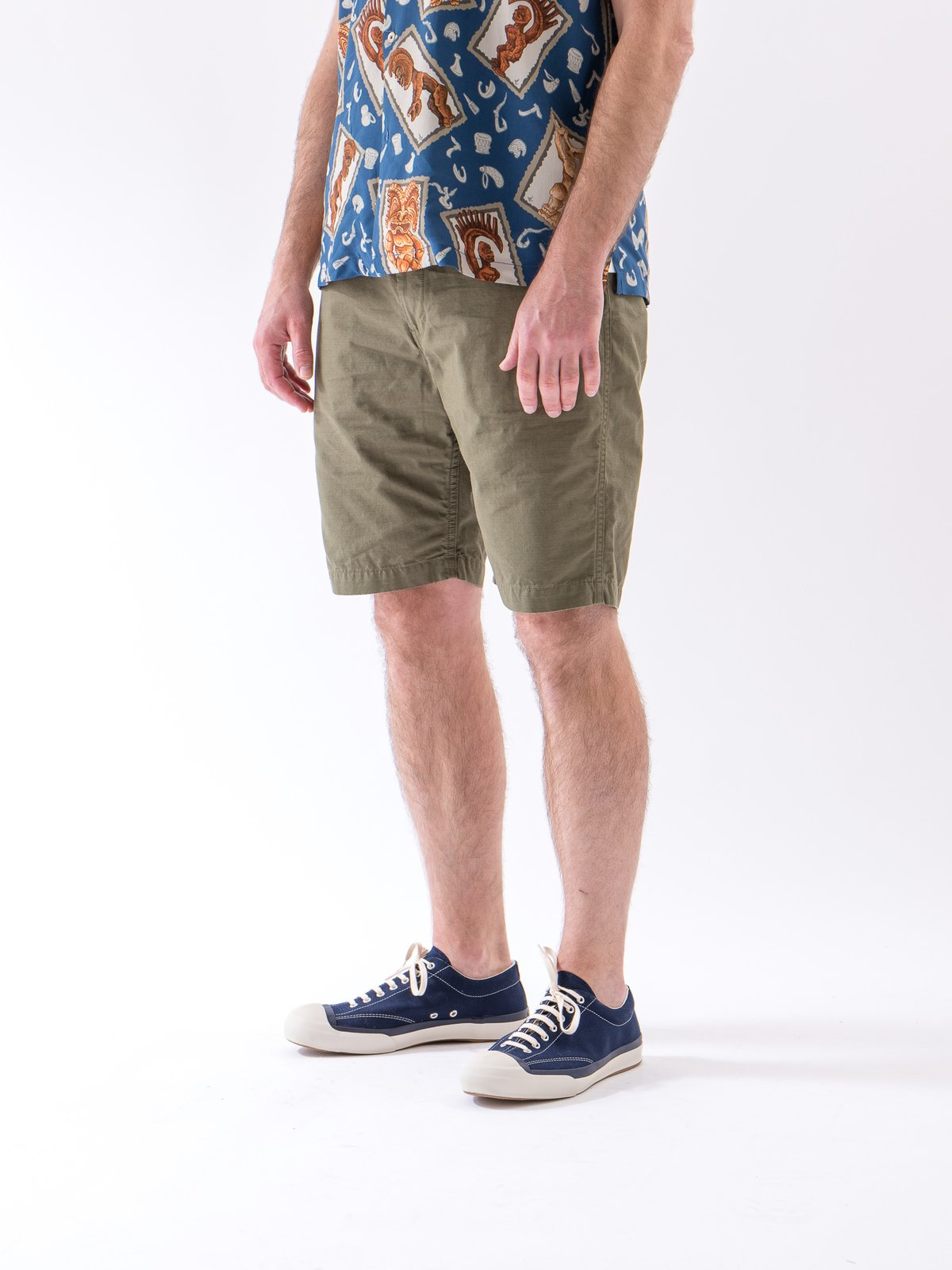 Army Green Ripstop New Yorker Short - Image 2